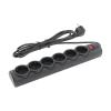 Сетевой фильтр Defender DFS-153, 6 розеток, 3м, Black