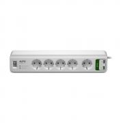 Сетевой фильтр APC PM5U-RS, 5 розеток, 1.8м, 2хUSB, White
