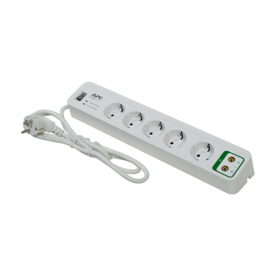 Сетевой фильтр APC PM5V-RS, 5 розеток, 1.8м, White