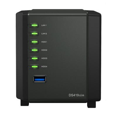 Сетевой накопитель Synology DiskStation DS419slim, без дисков